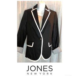 Jones New York Black & White Career Look Blazer